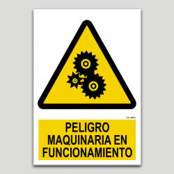 Peligro maquinaria en funcionamiento