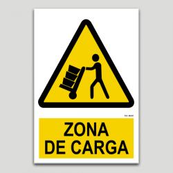 Peligro zona de carga