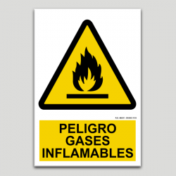 Peligro gases inflamables