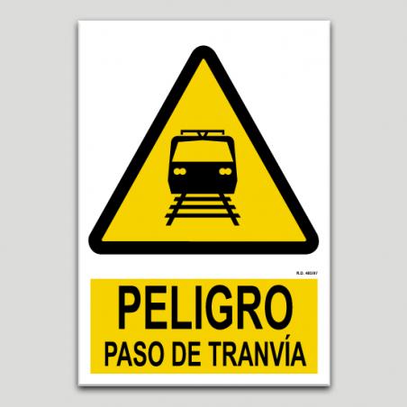 Peligro paso de tranvía