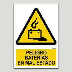 Peligro baterías en mal estado
