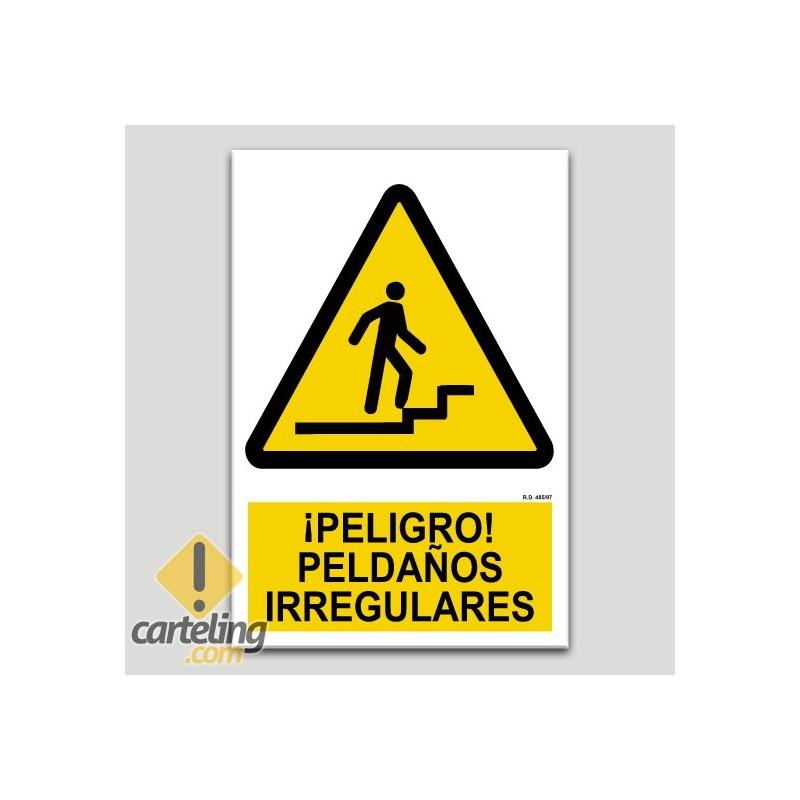 Perill, esglaons irregulars