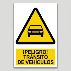 Peligro, tránsito de vehículos