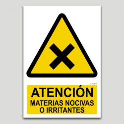 Atención, materias nocivas o irritantes