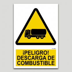Peligro descarga de combustible