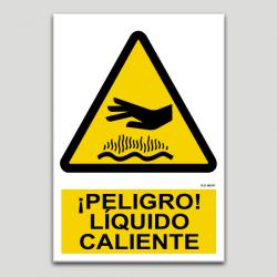 Peligro, liquido caliente