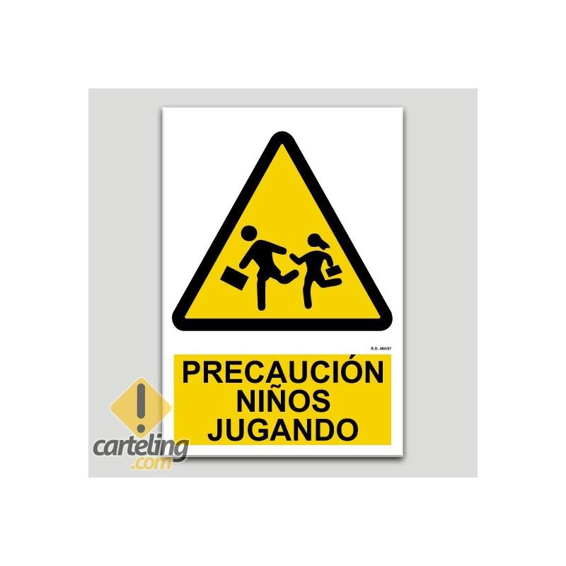 Precaución niños jugando