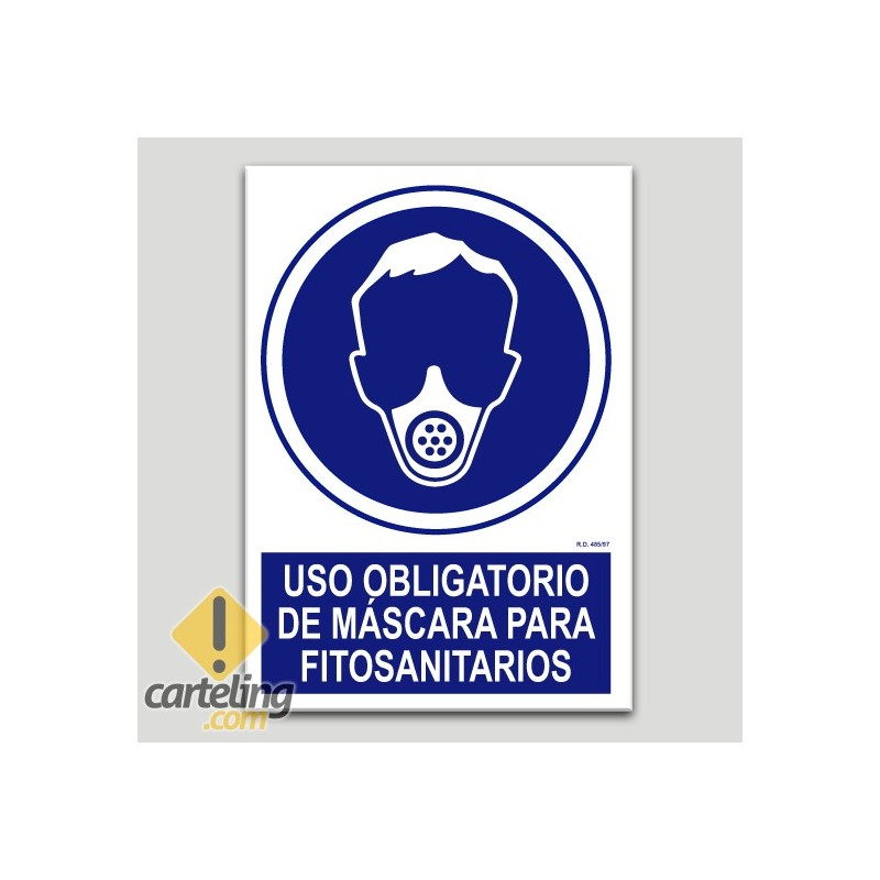 Uso obligatorio de máscara para fitosanitarios