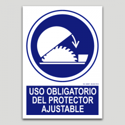Uso obligatorio del protector ajustable