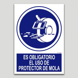 És obligatori l'ús de protector de mola
