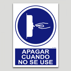 Apagar cuando no se use