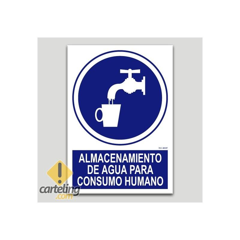 Almacenamiento de agua para cosumo humano