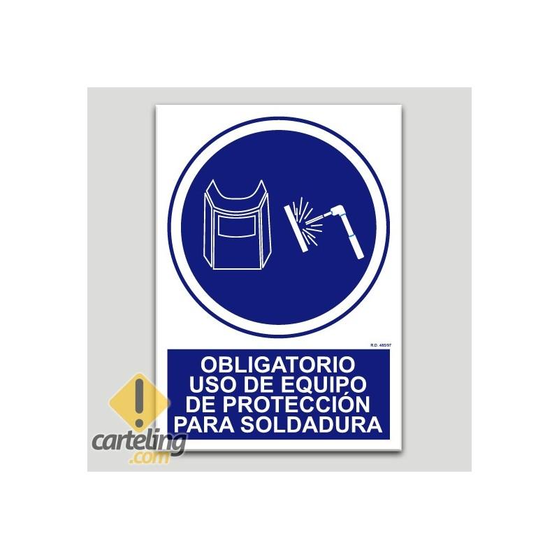 Obligatori equip de protecció contra soldadura