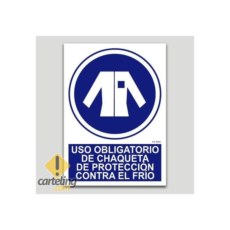 Uso obligatorio de chaqueta de protección contra el frío