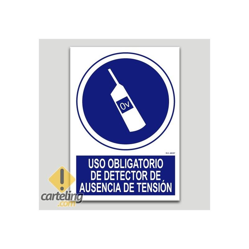 Ús obligatori de detector d'absència de tensió