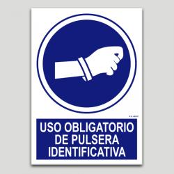 Uso obligatorio de pulsera identificativa