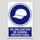 Uso obligatorio de gorra protectora