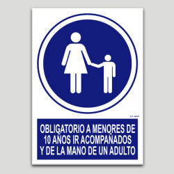 Obligatorio a menores de 10 años ir acompañados y de la mano de un adulto