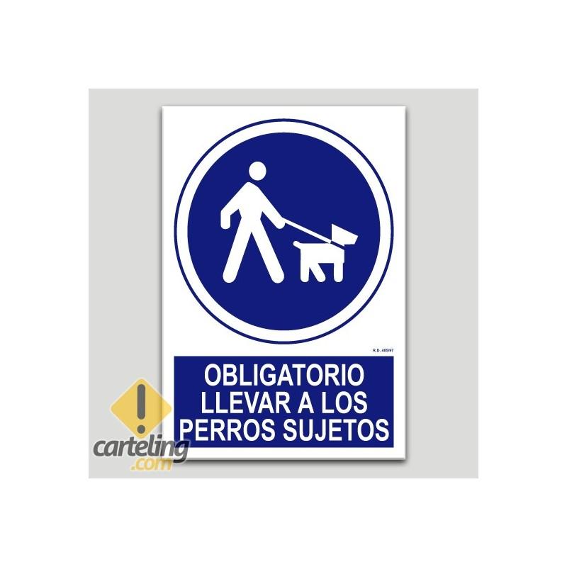 Obligatorio llevar a los perros sujetos