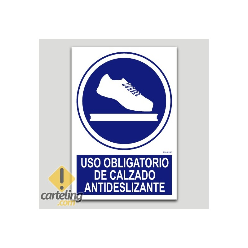 Ús obligatori de calçat antilliscant