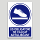 Uso obligatorio de calzado antideslizante
