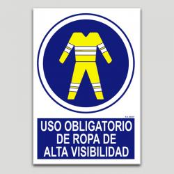 Uso obligatorio de ropa de alta visibilidad