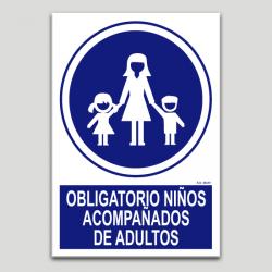 Obligatorio niños acompañados de adultos