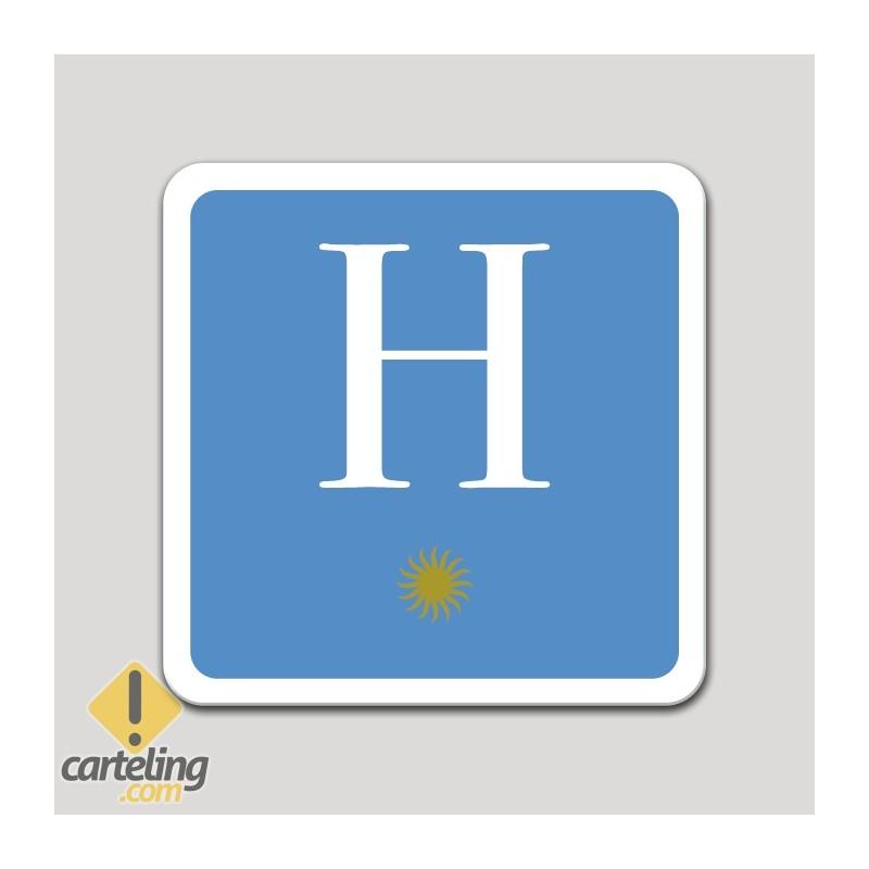 Placa distintivo hotel una estrella - Asturias