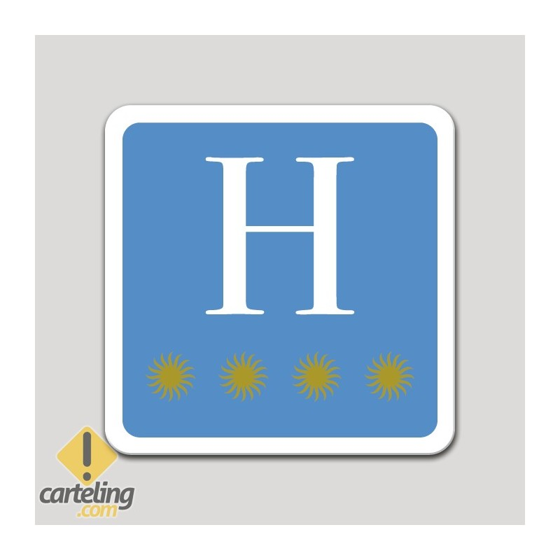 Placa distintivo hotel cuatro estrellas - Asturias