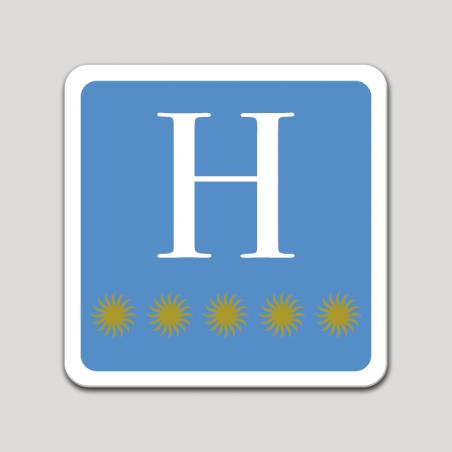 Placa distintivo hotel cinco estrellas - Asturias