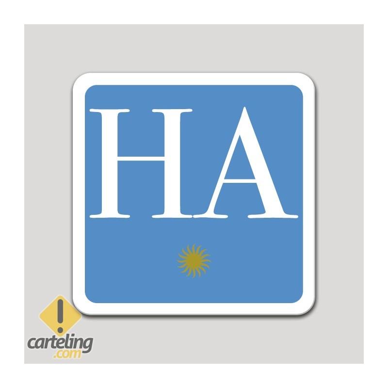 Placa distintivo hotel apartamento una estrella - Asturias