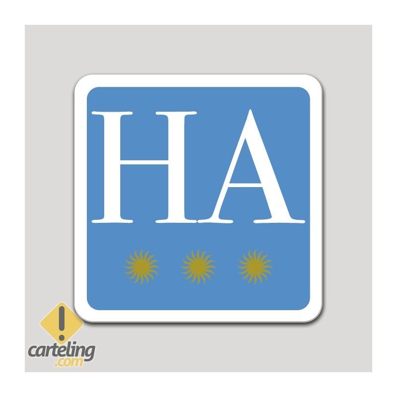 Placa distintivo hotel apartamento tres estrellas - Asturias