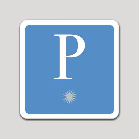 Placa distintivo pensión una estrella - Asturias