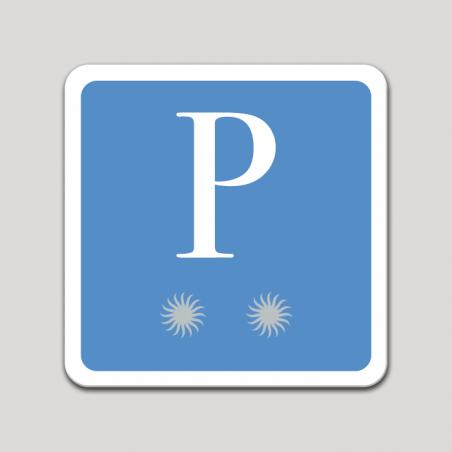 Placa distintivo pensión dos estrellas - Asturias