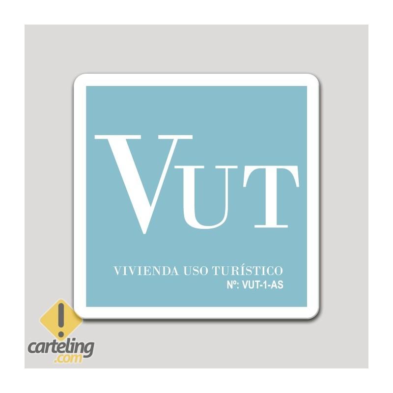 Placa distintivo Vivienda uso turístico - Asturias