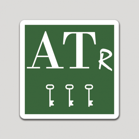 Placa distintivo Apartamento turístico rural tres llaves - Asturias