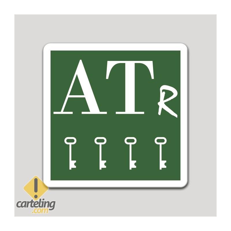 Placa distintivo Apartamento turístico rural cuatro llaves - Asturias
