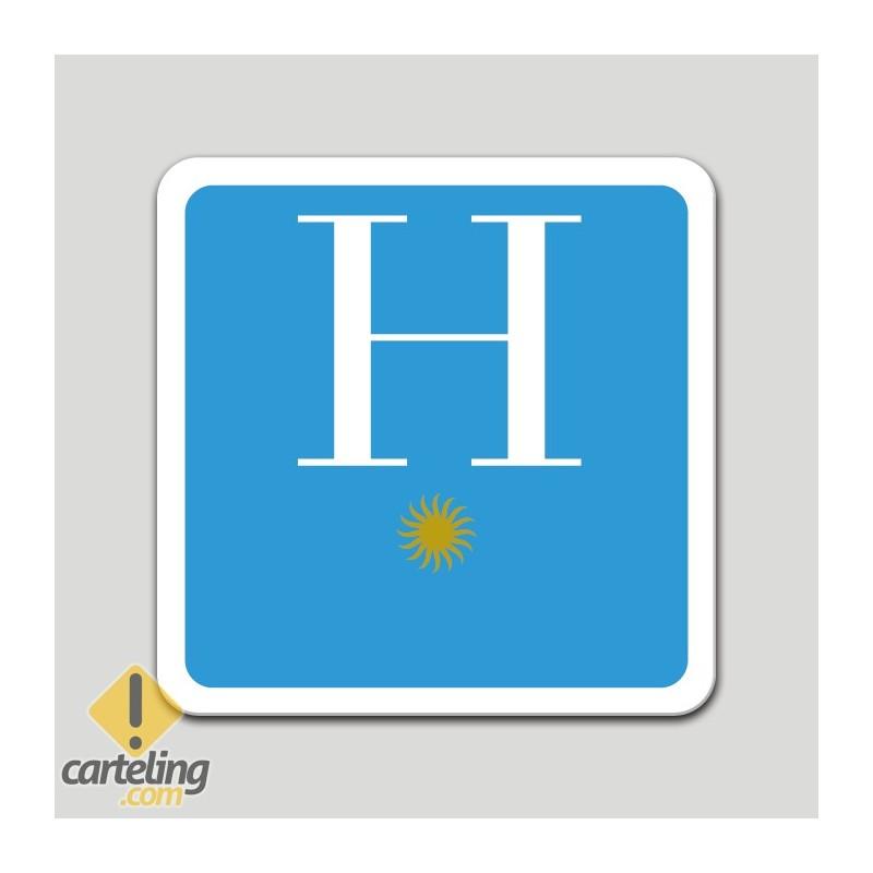 Placa distintivo hotel una estrella - Galicia