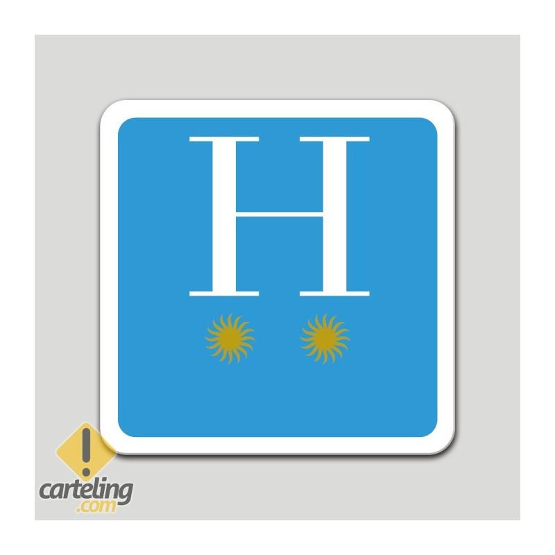 Placa distintivo hotel dos estrellas - Galicia