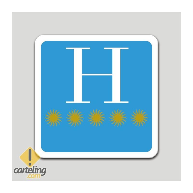 Placa distintivo hotel cinco estrellas - Galicia