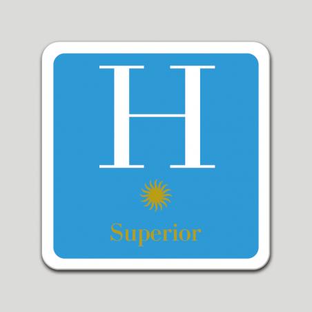 Placa distintivo hotel una estrella superior - Galicia