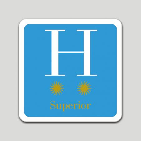 Placa distintivo hotel dos estrellas superior - Galicia