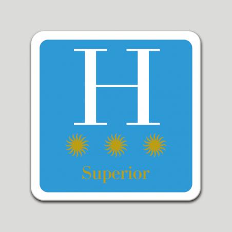 Placa distintivo hotel tres estrellas superior - Galicia