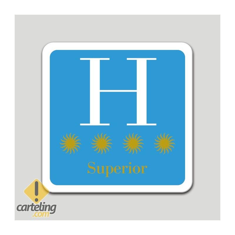 Placa distintivo hotel cuatro estrellas superior - Galicia