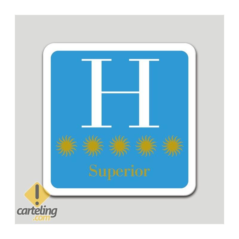 Placa distintivo hotel cinco estrellas superior - Galicia