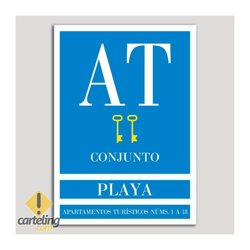 Placa distintivo Apartamento turístico - Conjunto - Playa - Dos llaves-oro.Andalucía.