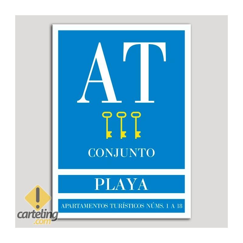 Placa distintivo Apartamento turístico - Conjunto - Playa - Tres llaves-oro.Andalucía.