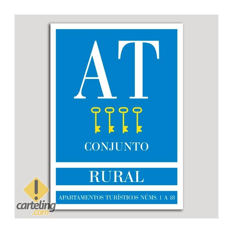 Placa distintivo Apartamento turístico - Conjunto - Rural - Cuatro llaves-oro.Andalucía.