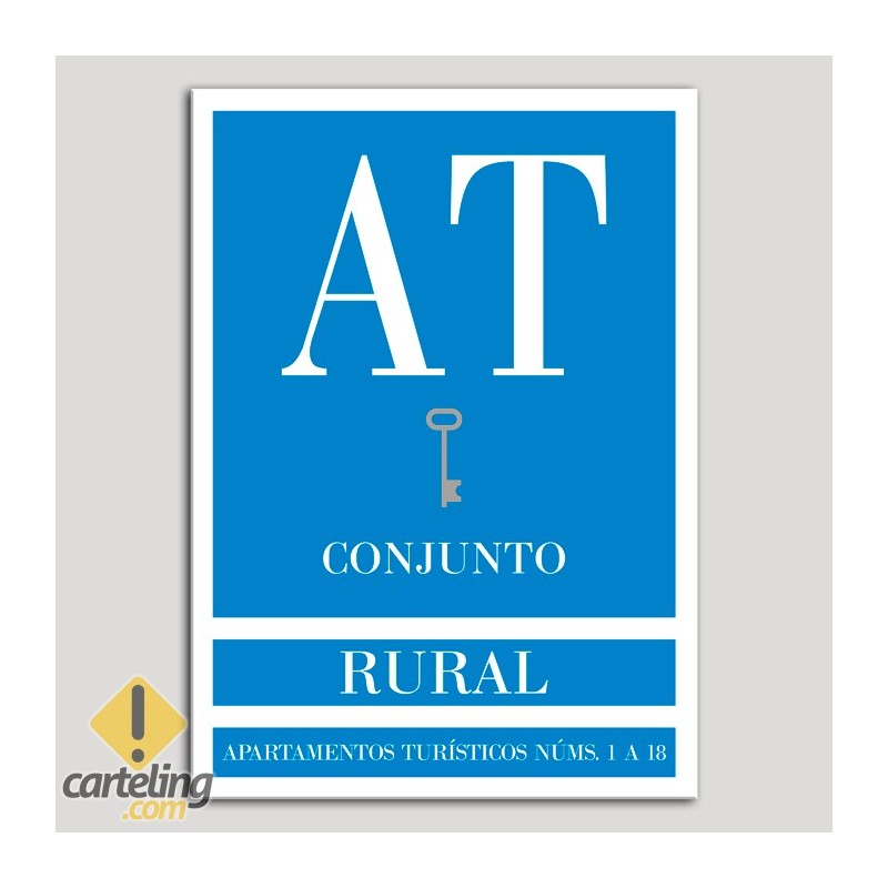 Placa distintivo Apartamento turístico - Conjunto - Rural - Una llave-plata.Andalucía.