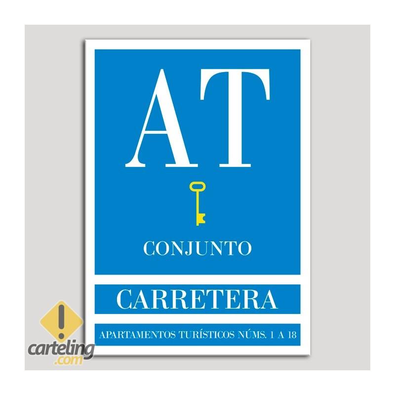 Placa distintivo Apartamento turístico - Conjunto - Carretera - Una llave-oro.Andalucía.
